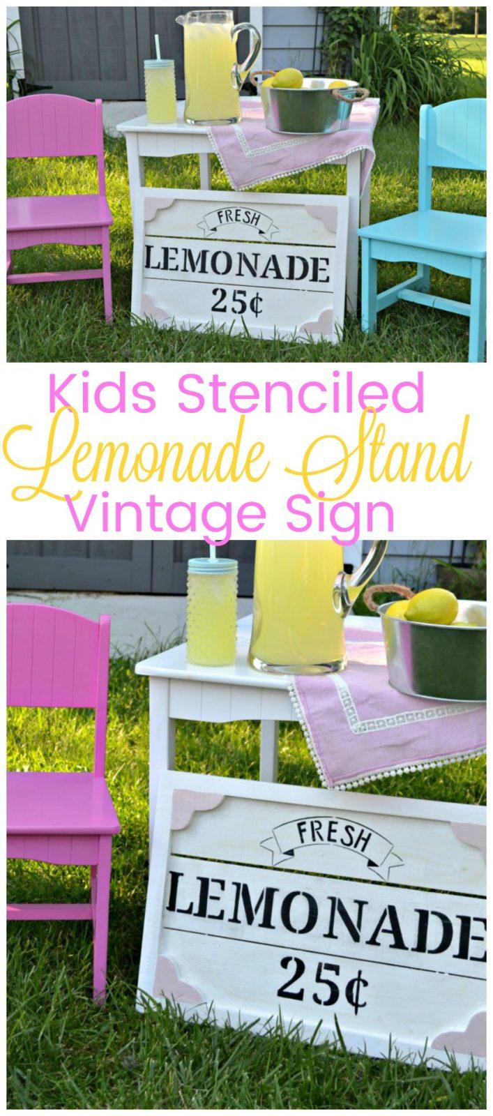 DIY Kids Lemonade Stand Sign - The Cards We Drew Lemonade Sign Kids