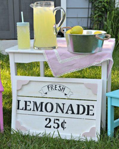DIY Kids Lemonade Stand Sign