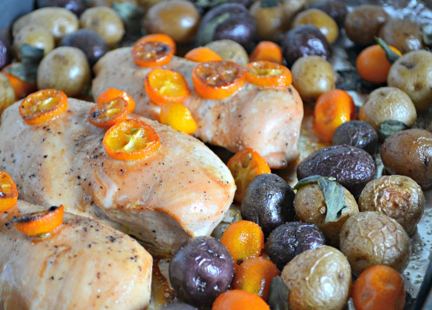 one sheet pan meal idea