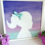 Ombre Watercolor Silhouette