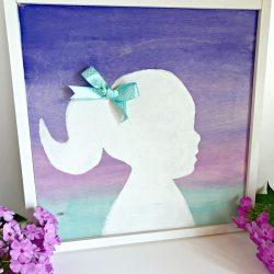 Ombre Watercolor Silhouette
