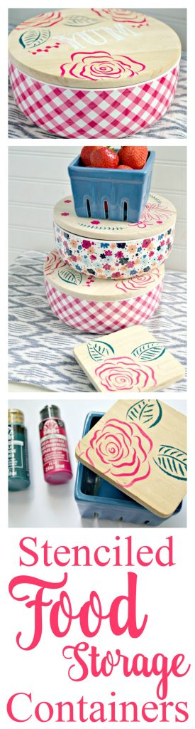 An easy personalized gift idea stenciled food storage containers