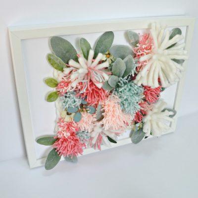 3D Pom Pom Flower Art using RyaTie