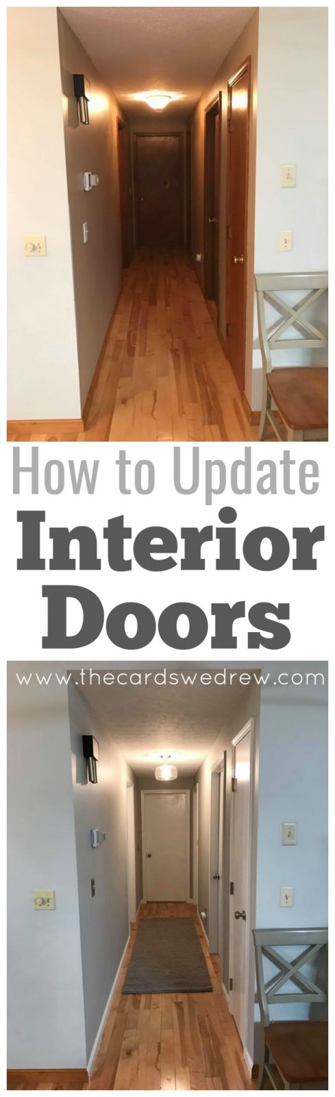 Pin it for later\u2026 & How to Update Interior Doors - The Cards We Drew