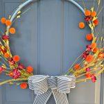 DIY Fall Embroidery Hoop Wreath