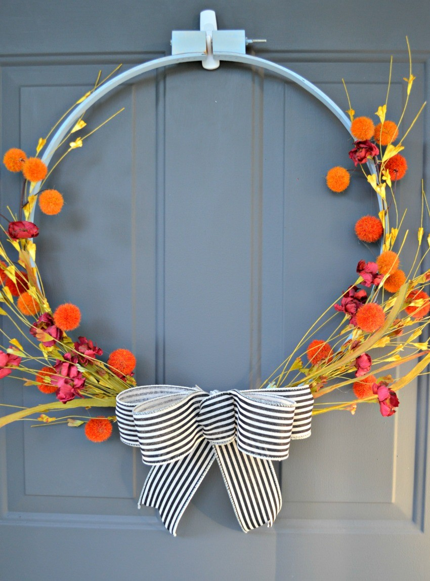Diy Fall Embroidery Hoop Wreath The Cards We Drew