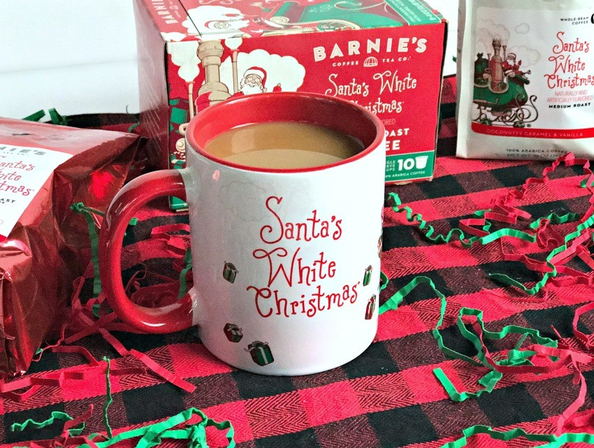 if youre looking for gift ideas for a fellow coffee lover i highly recommend gifting them a fresh bag of santas white christmas from barnies coffee