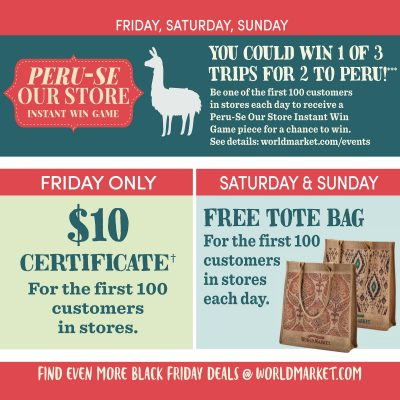 Black Friday Deals at Cost Plus World Market