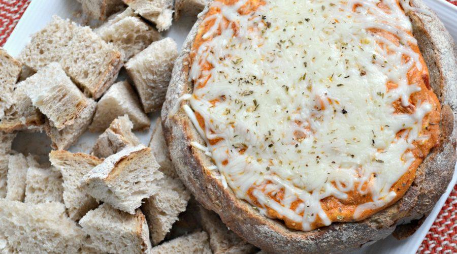 Pizza Dip Stuffed Bread Bowl