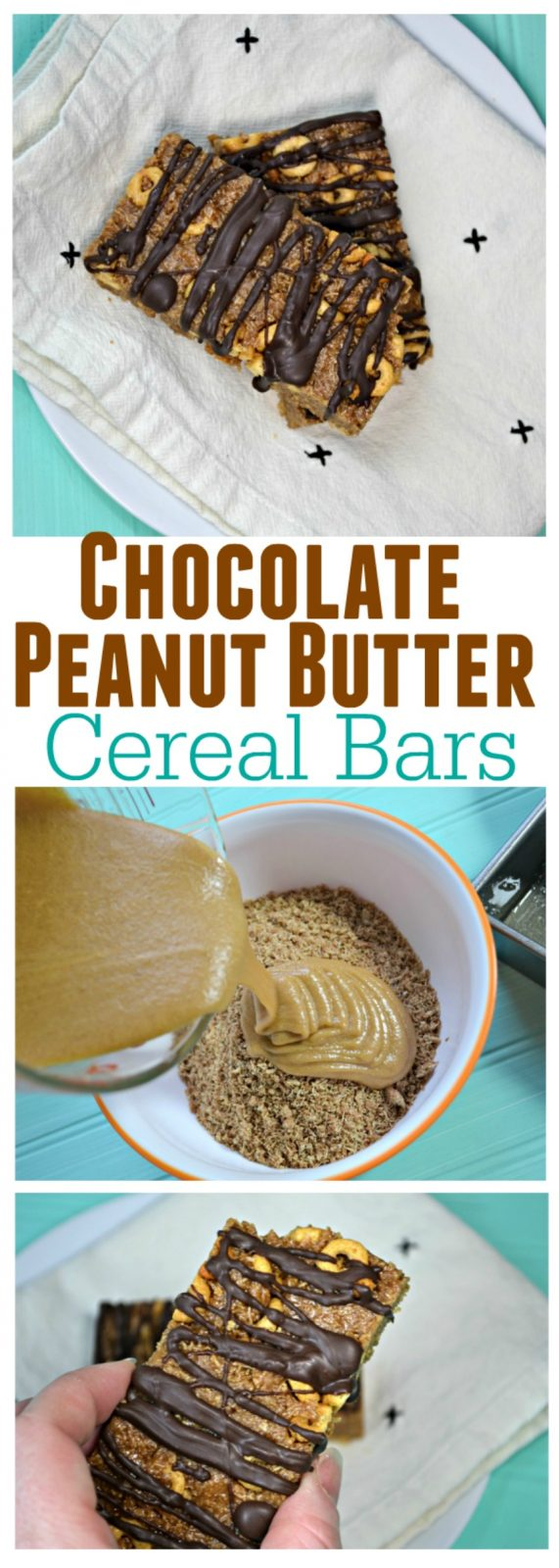 Peanut Butter Chocolate Homemade Cereal Bars - The Cards ...