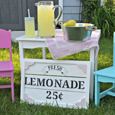 DIY Kids Lemonade Stand Sign