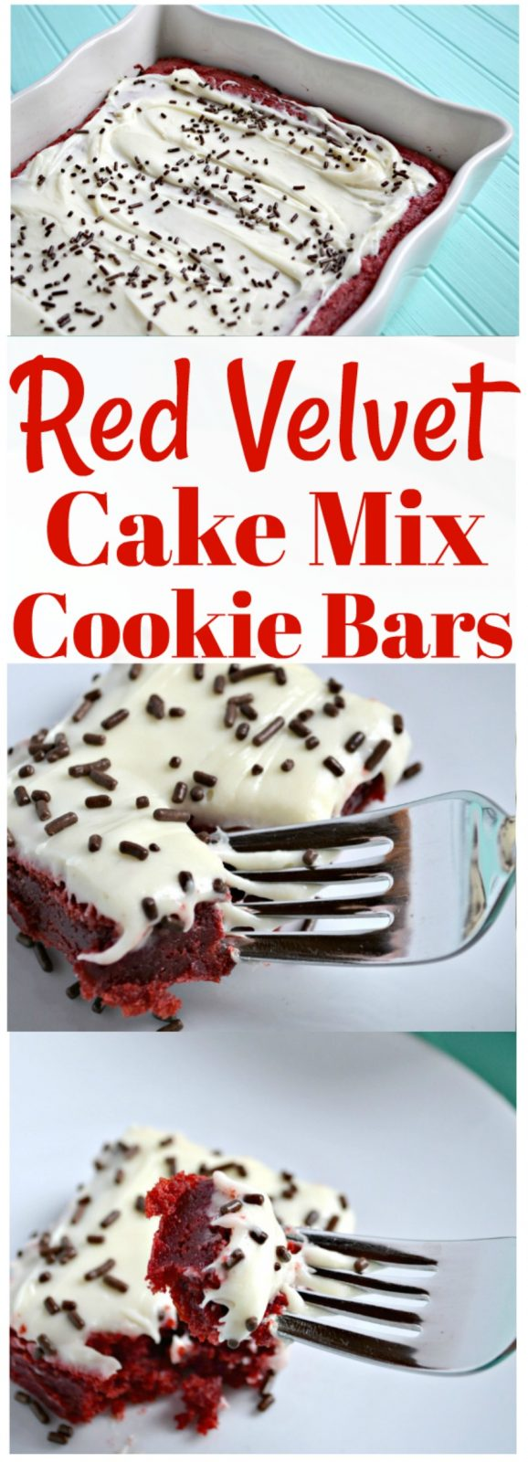 Red Velvet Cake Mix Cookie Bars The Cards We Drew