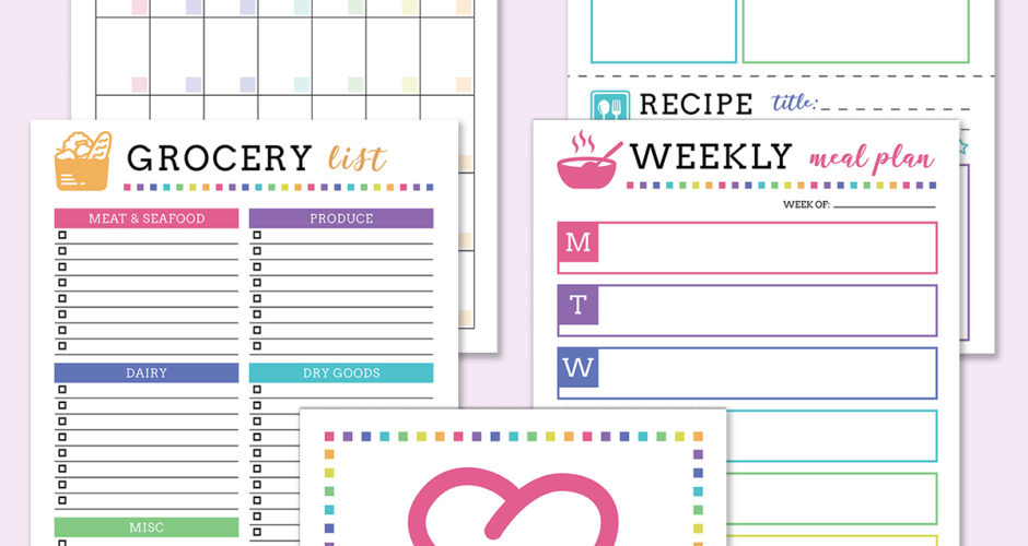 Free Meal Planning Printables
