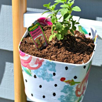 Mod Podge Herb Ladder Planter