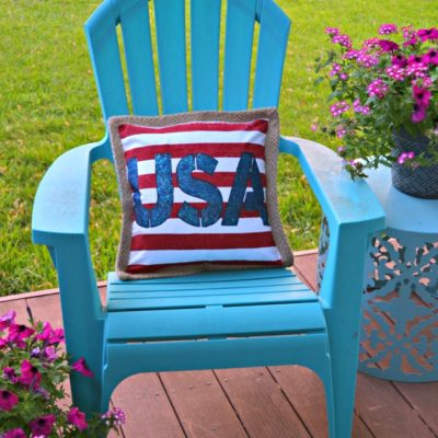 DIY Stenciled USA Pillow