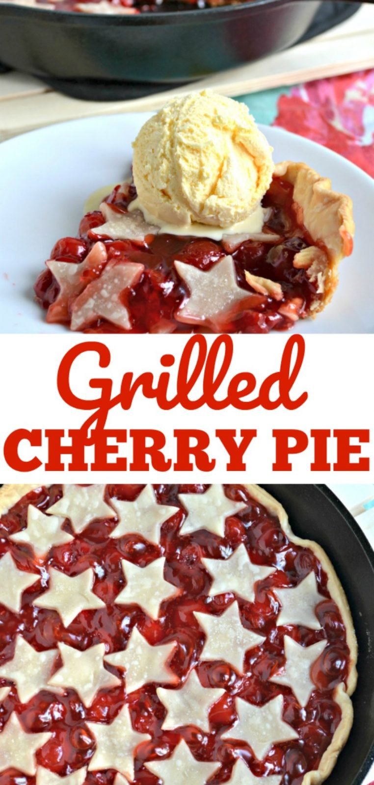 Grilled Cherry Pie