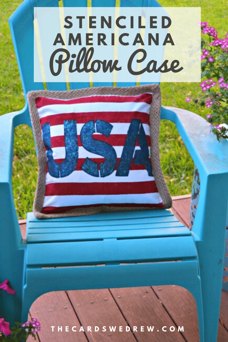 Stenciled Americana Pillow Case