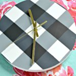How to Paint Gingham: Gingham Wall Clock