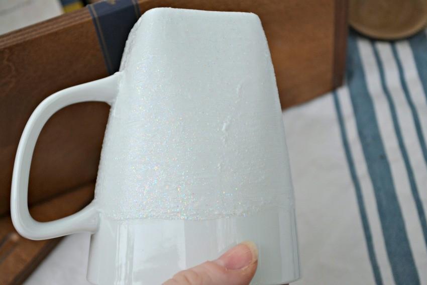 DIY glitter mug