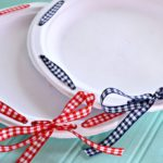 DIY Ribbon Wrapped Plates