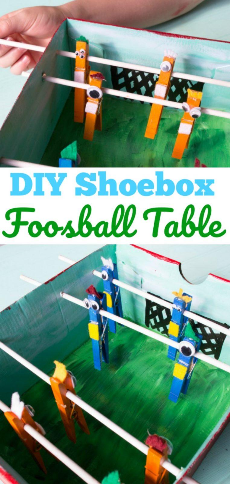 DIY Shoebox Foosball Table