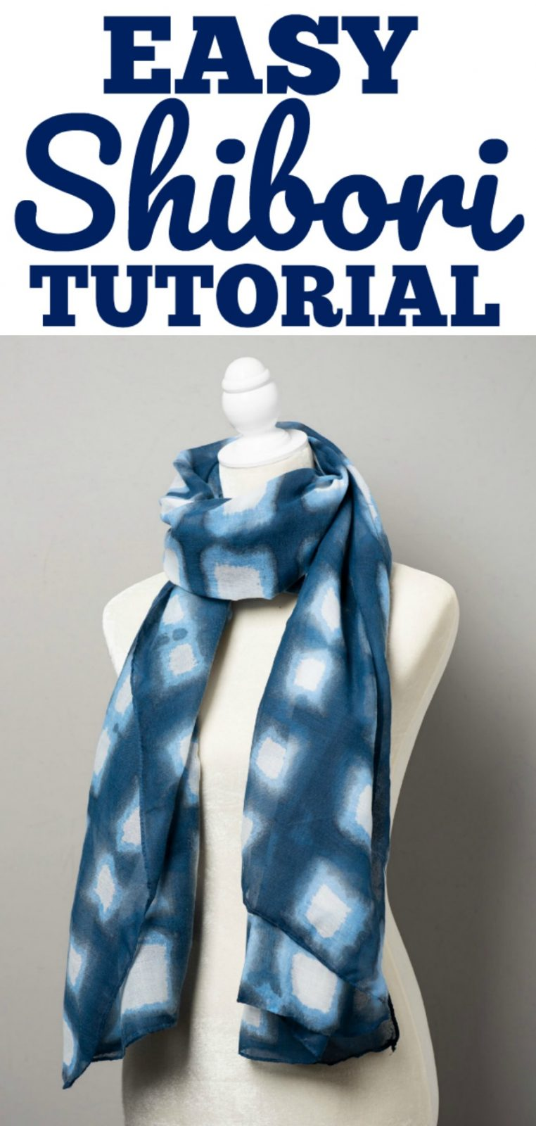 Shibori Tutorial made easy! Learn how to shibori with this simple DIY craft tutorial using Fabric Creations paint and a simple folding pattern! A great summer craft idea! #crafts #shibori #shiboripatterns #howtoshibori