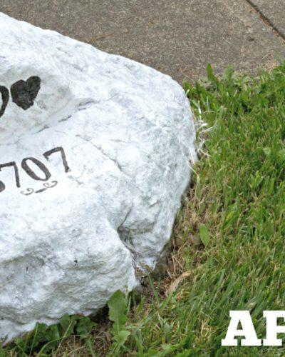 DIY Home Address Rock