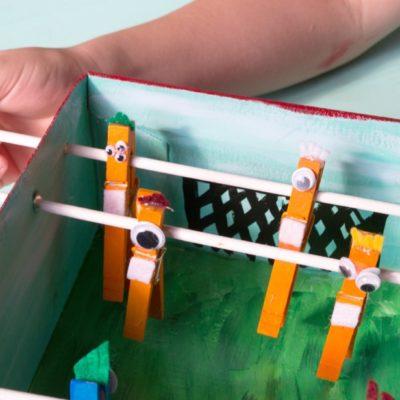 Kids Summer Craft: DIY Foosball Table