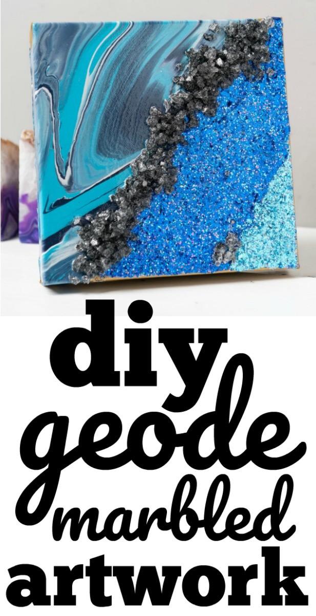 DIY Geode Marble Artwork
