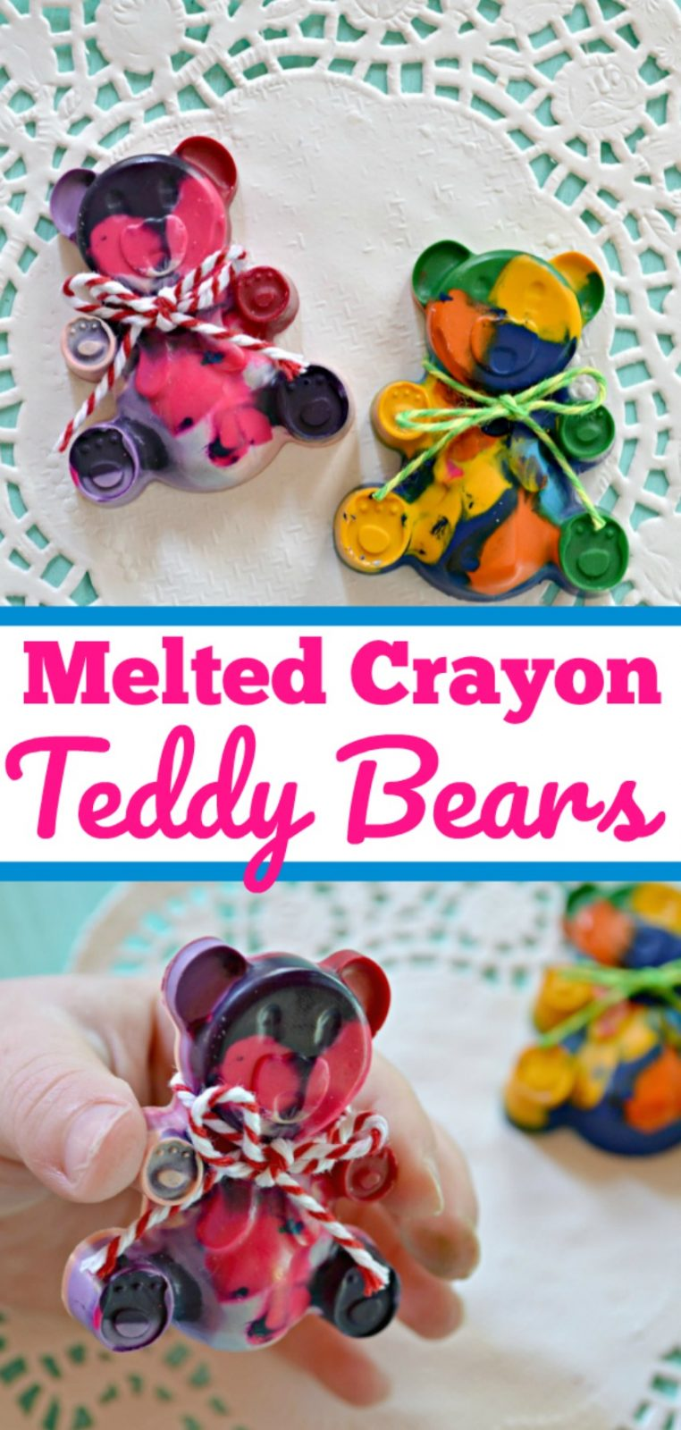 DIY Melted Crayon Teddy Bears