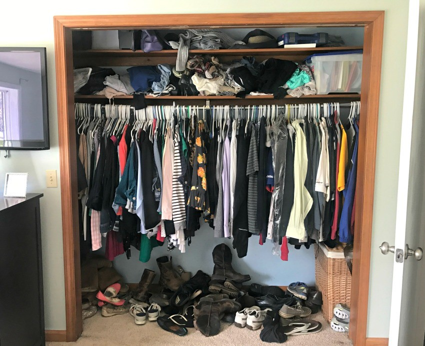 Small Closet Makeover BEFORE