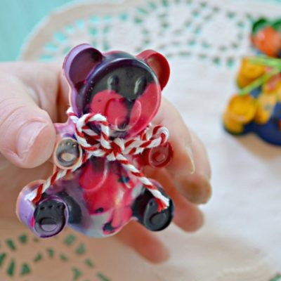 Crayola Thank A Teacher Contest {Melted Crayon Teddy Bears}