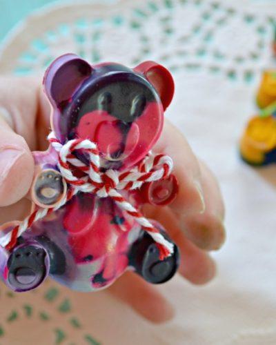 Crayola Thank A Teacher Contest {Melted Crayon Teddy Bears}