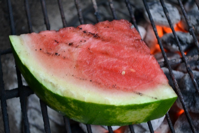 watermelon on the grill