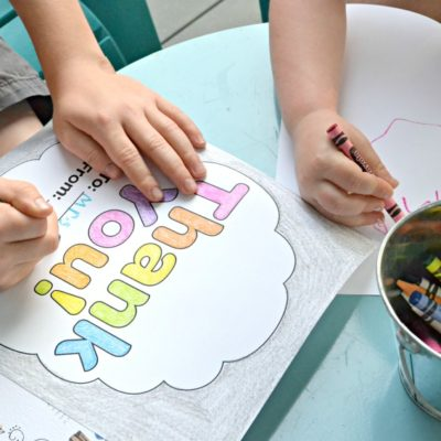 Crayola's Thank A Teacher contest