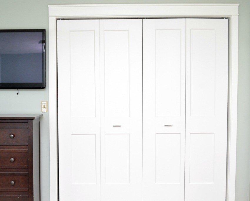 Before I Even Open Up The Doors, You Can Tell The Room Has Been Hugely  Improved. We Bought These Gorgeous White Closet Doors From Loweu0027s That Were  Exactly ...