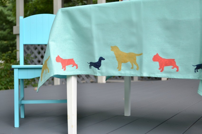 DIY kids tablecloth