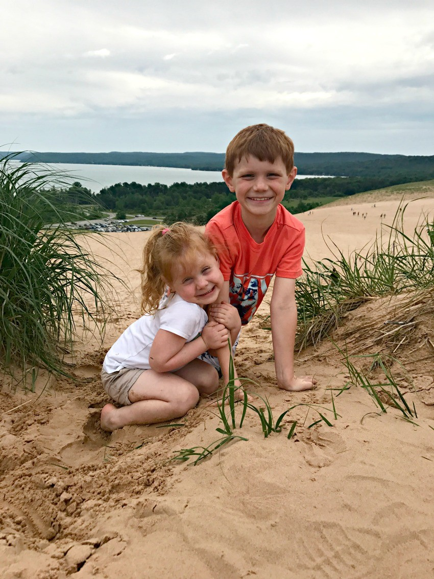 sleeping bear dune climb for families