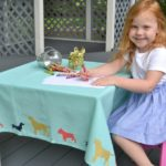 Kids Stenciled Dog Tablecloth