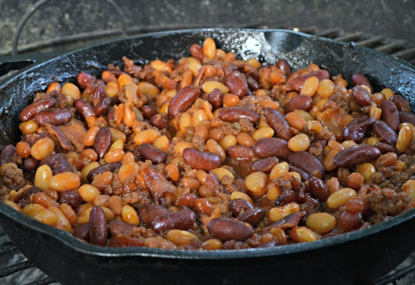 grilled baked beans recipe