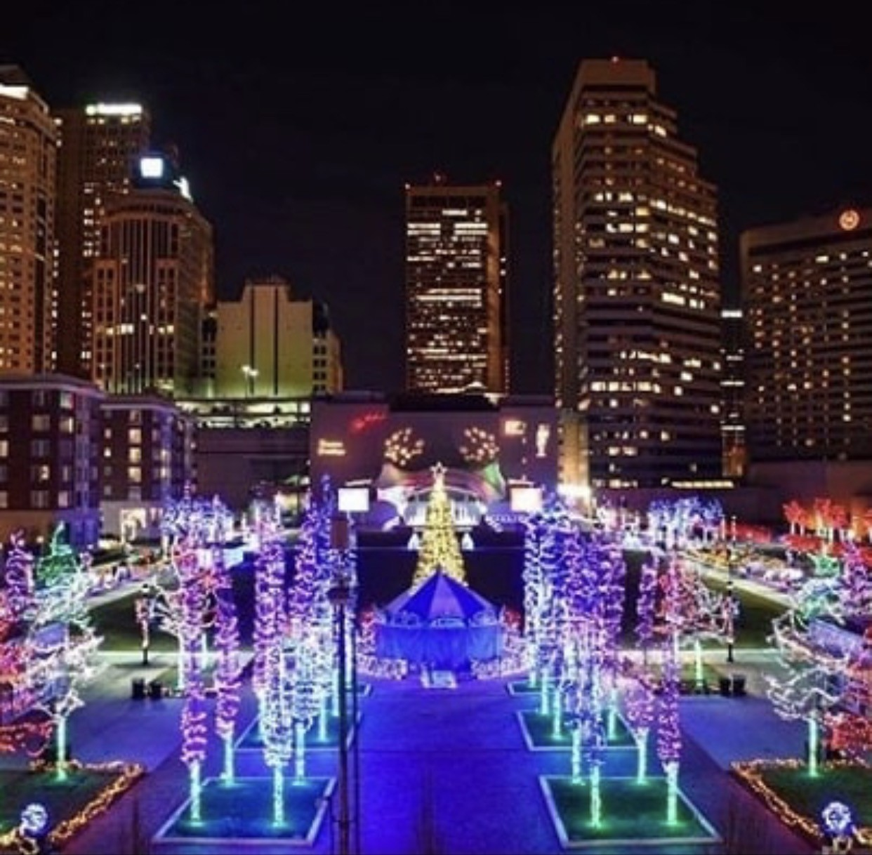 columbus commons christmas lights