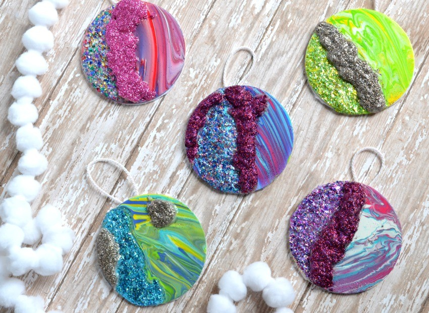 diy geode christmas ornaments