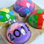 Easy DIY Marbled Ornaments
