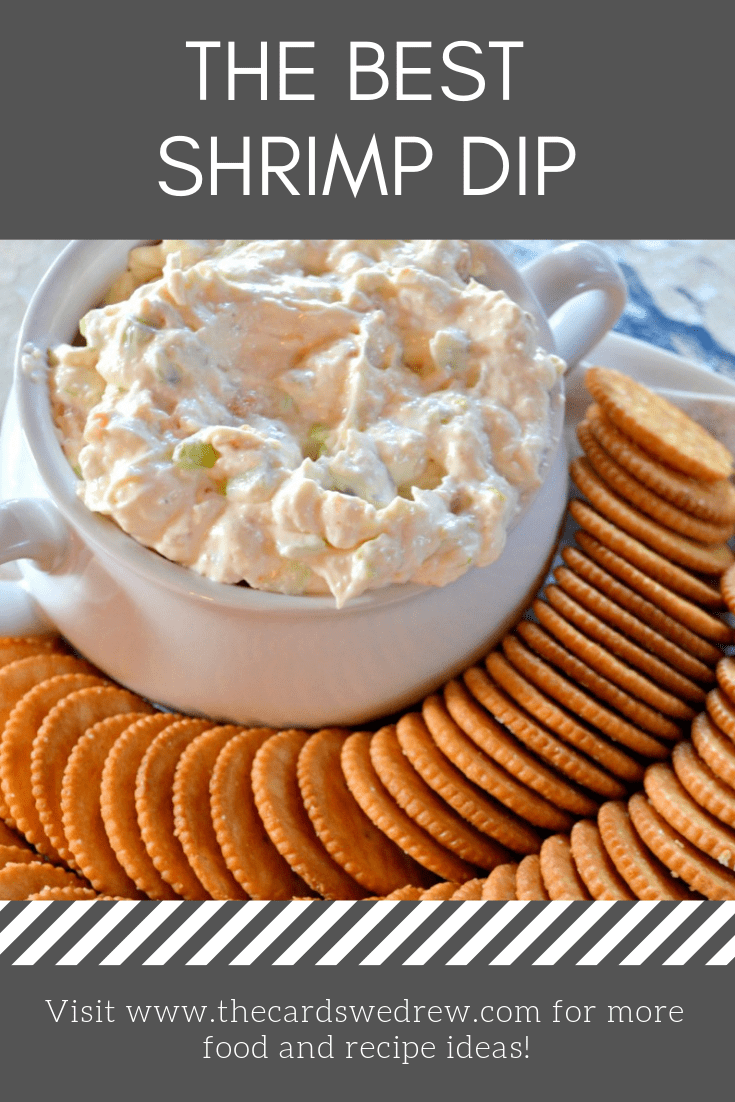 Hey shrimp lovers, you'll love this Shrimp Dip recipe!! This cold shrimp dip recipe uses cream cheese and is the perfect easy appetizer idea for a group to enjoy!! #shrimp #appetizer #recipe #dip