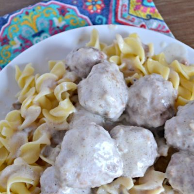 Swedish Meatballs and Noodles
