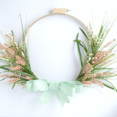 Embroidery Hoop Spring Wreath