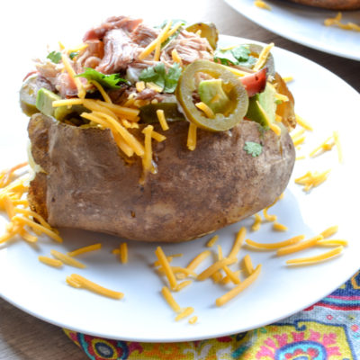 Barbecue Baked Potato with Smoked Pork Shoulder