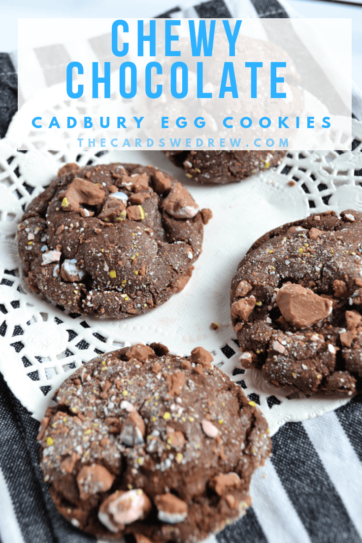 Chewy Chocolate Cadbury Egg Cookies