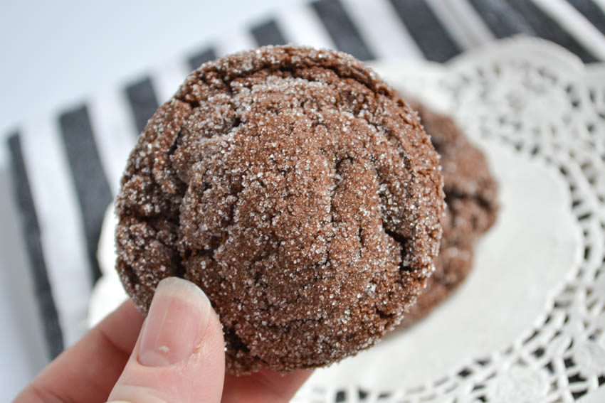 chocolate cookieswith cocoa powder