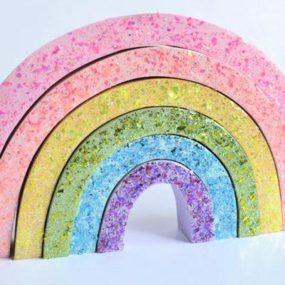 Glittery Rainbow